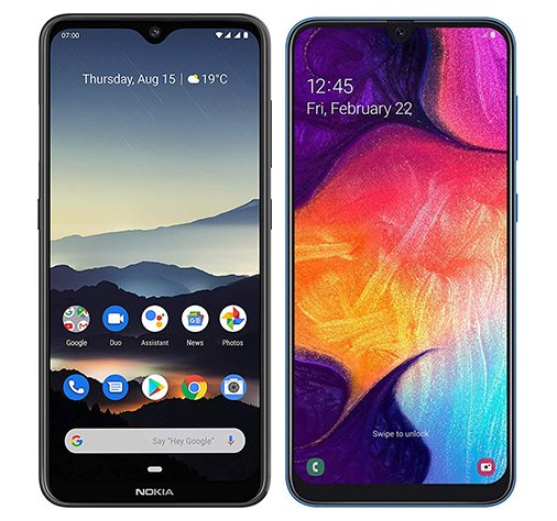 Smartphone Comparison: Nokia 7 2 vs Samsung galaxy a50