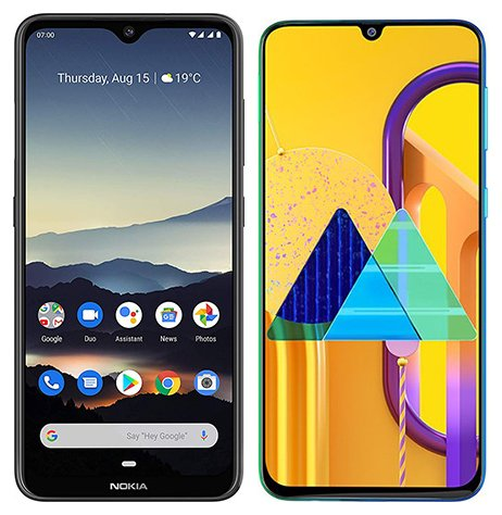 Smartphone Comparison: Nokia 7 2 vs Samsung galaxy m30s