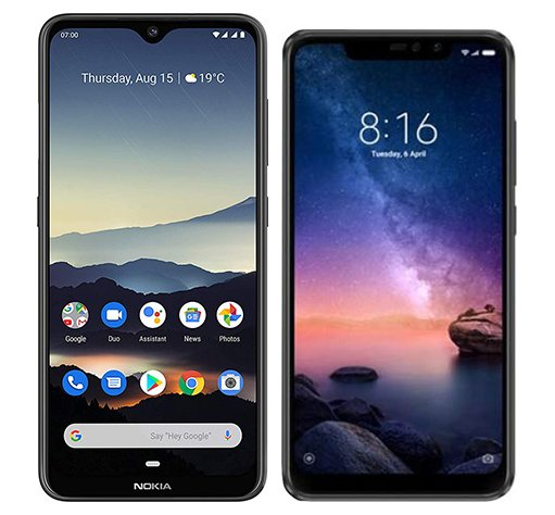 Smartphone Comparison: Nokia 7 2 vs Xiaomi redmi note 6 pro