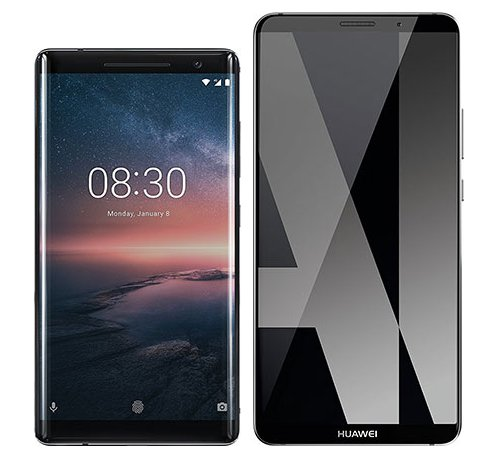 Smartphonevergleich: Nokia 8 sirocco oder Huawei mate 10 pro
