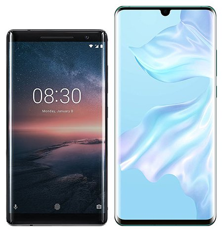 Smartphonevergleich: Nokia 8 sirocco oder Huawei p30 pro