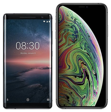Smartphonevergleich: Nokia 8 sirocco oder Iphone xs max