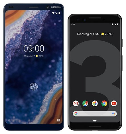 Smartphone Comparison: Nokia 9 vs Google pixel 3