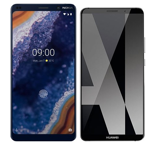 Smartphone Comparison: Nokia 9 vs Huawei mate 10 pro