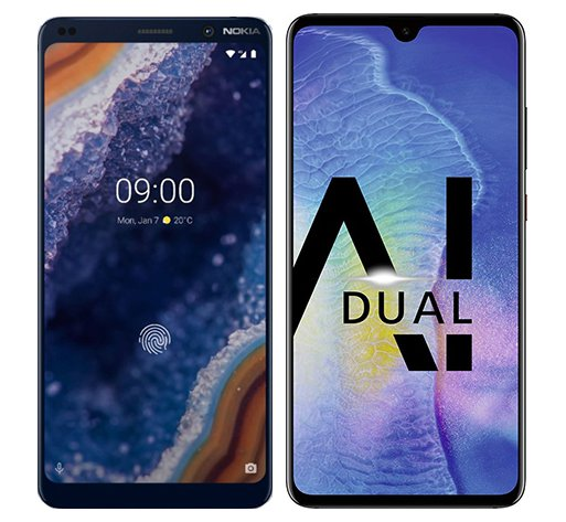 Smartphone Comparison: Nokia 9 vs Huawei mate 20