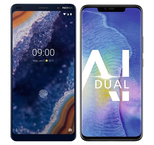 Smartphone Comparison: Nokia 9 vs Huawei mate 20 pro