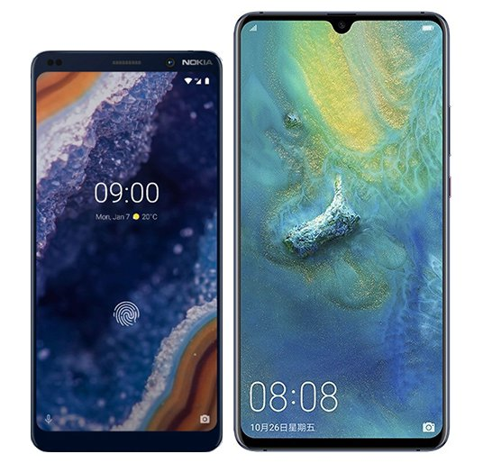 Smartphone Comparison: Nokia 9 vs Huawei mate 20 x