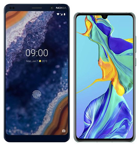 Smartphone Comparison: Nokia 9 vs Huawei p30