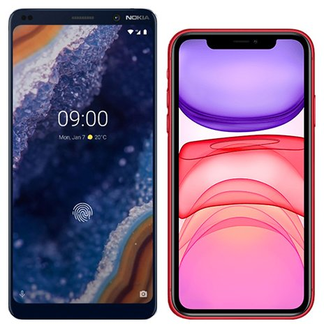 Smartphone Comparison: Nokia 9 vs Iphone 11