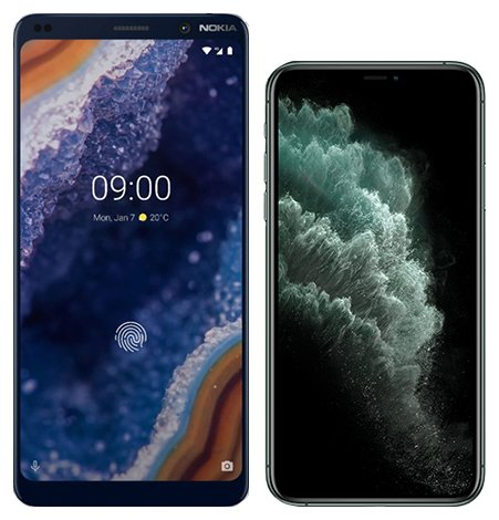 Smartphone Comparison: Nokia 9 vs Iphone 11 pro