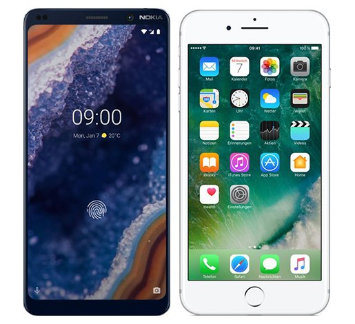Smartphone Comparison: Nokia 9 vs Iphone 7 plus
