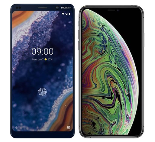 Smartphone Comparison: Nokia 9 vs Iphone xs max