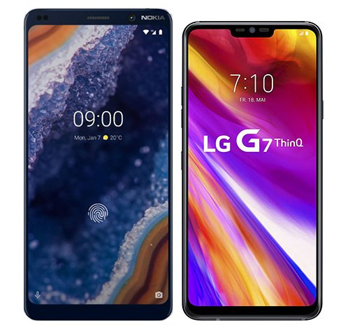 Smartphone Comparison: Nokia 9 vs Lg g7 thinq