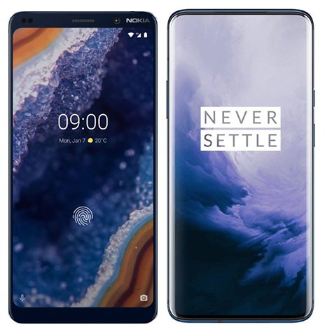 Smartphone Comparison: Nokia 9 vs One plus 7 pro