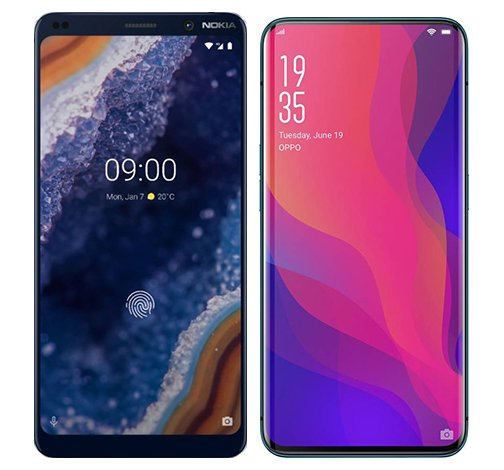 Smartphone Comparison: Nokia 9 vs Oppo find x
