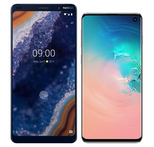 Smartphone Comparison: Nokia 9 vs Samsung galaxy s10
