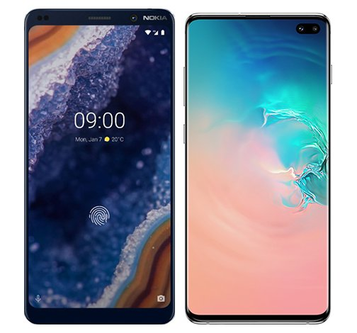 Smartphone Comparison: Nokia 9 vs Samsung galaxy s10 plus