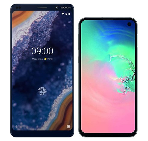 Smartphone Comparison: Nokia 9 vs Samsung galaxy s10e