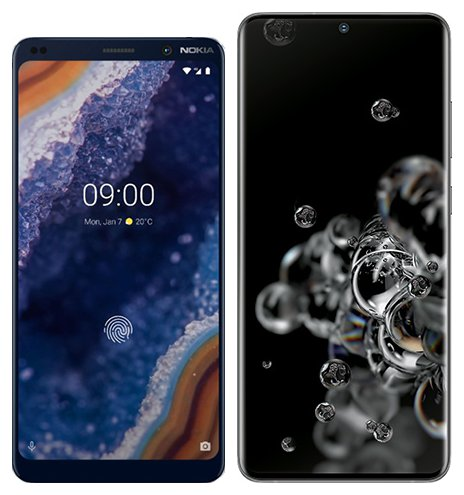 Smartphone Comparison: Nokia 9 vs Samsung galaxy s20 ultra