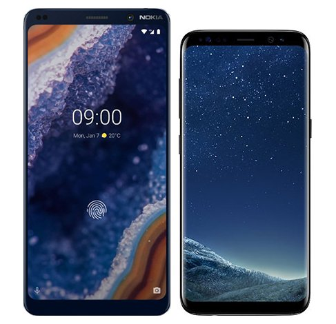 Smartphone Comparison: Nokia 9 vs Samsung galaxy s8