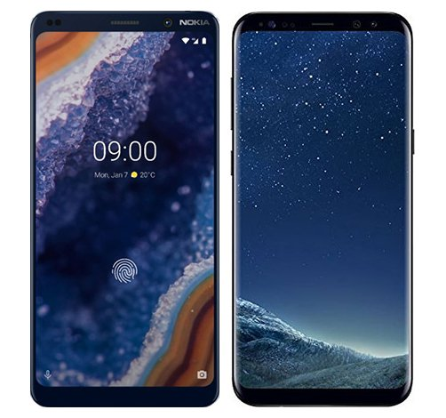 Smartphone Comparison: Nokia 9 vs Samsung galaxy s8 plus