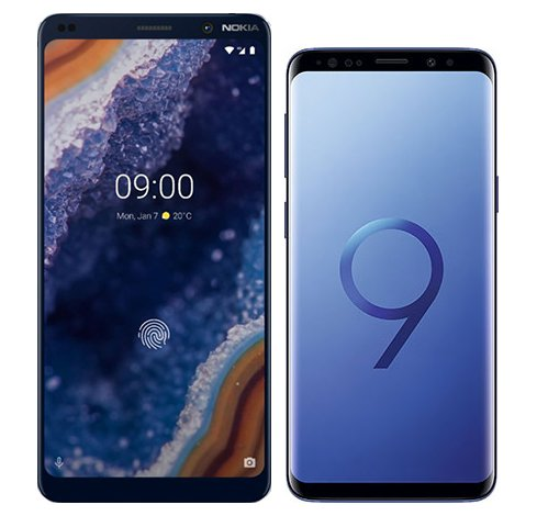 Smartphone Comparison: Nokia 9 vs Samsung galaxy s9