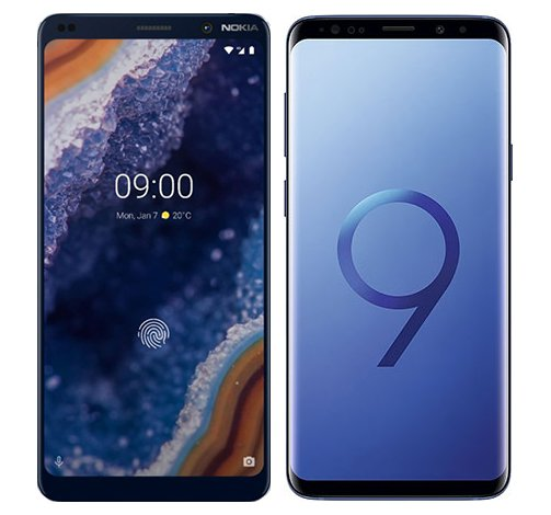 Smartphone Comparison: Nokia 9 vs Samsung galaxy s9 plus