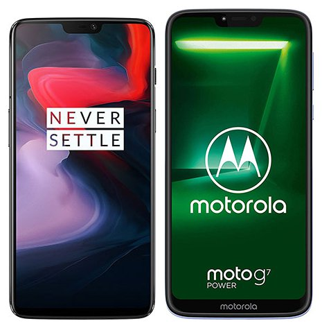 Smartphonevergleich: One plus 6 oder Motorola moto g7 power