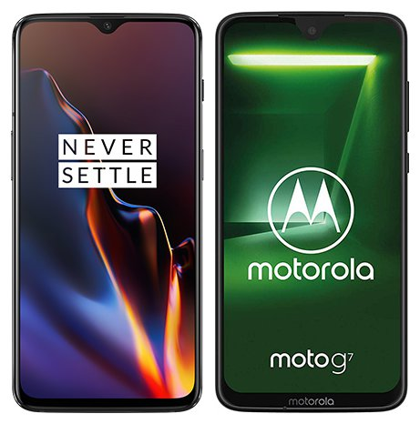Smartphone Comparison: One plus 6t vs Motorola moto g7