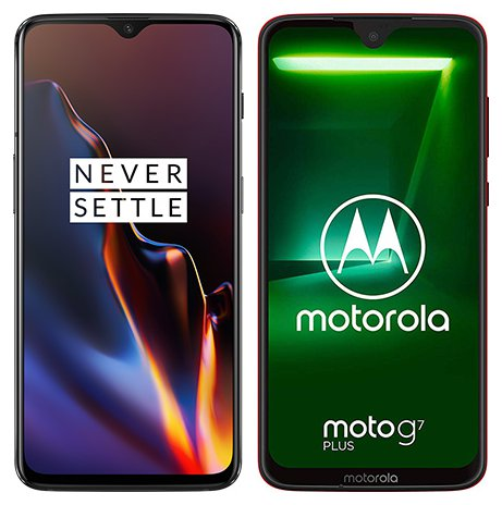 Smartphone Comparison: One plus 6t vs Motorola moto g7 plus