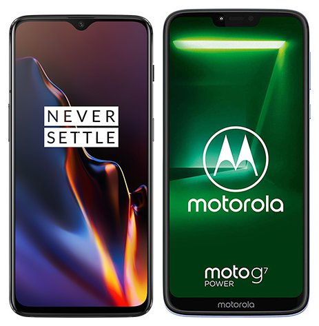 Smartphone Comparison: One plus 6t vs Motorola moto g7 power