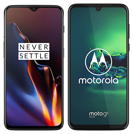 Smartphone Comparison: One plus 6t vs Motorola moto g8 plus
