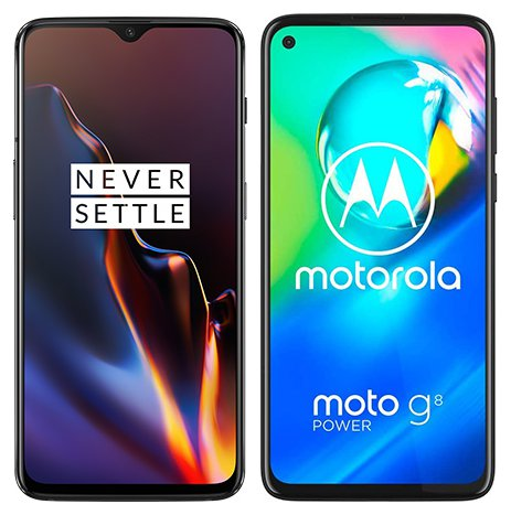 Smartphone Comparison: One plus 6t vs Motorola moto g8 power