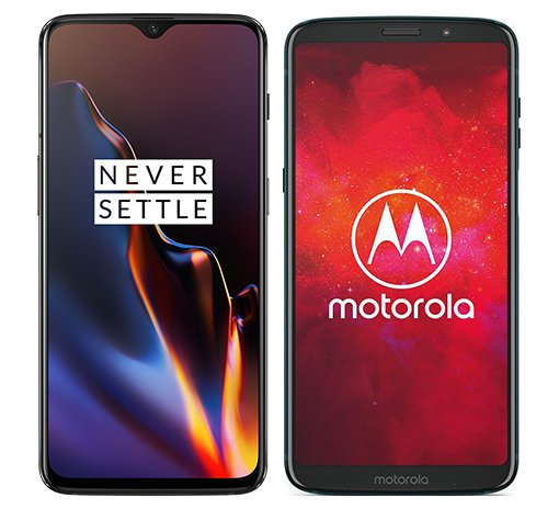Smartphone Comparison: One plus 6t vs Motorola moto z3 play