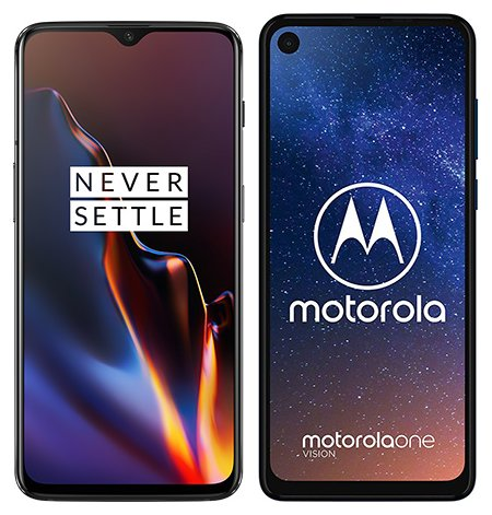 Smartphone Comparison: One plus 6t vs Motorola one vision