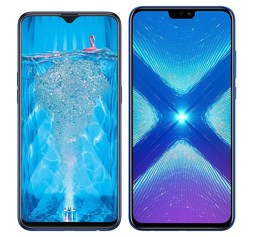 Smartphone Comparison: Oppo f9 pro vs Honor 8x