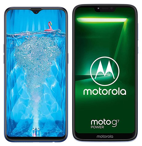 Smartphone Comparison: Oppo f9 pro vs Motorola moto g7 power