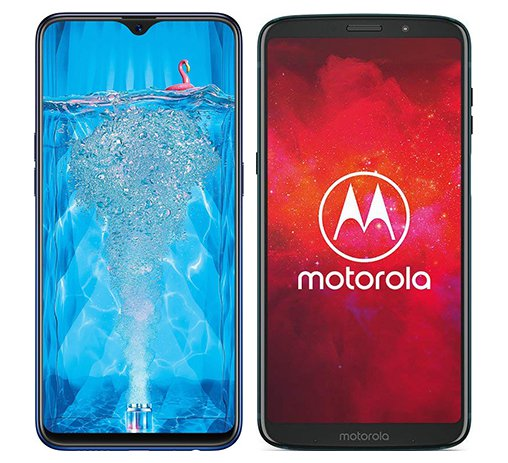 Smartphone Comparison: Oppo f9 pro vs Motorola moto z3 play