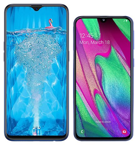 Smartphone Comparison: Oppo f9 pro vs Samsung galaxy a40
