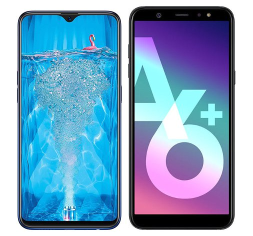 Smartphone Comparison: Oppo f9 pro vs Samsung galaxy a6 plus