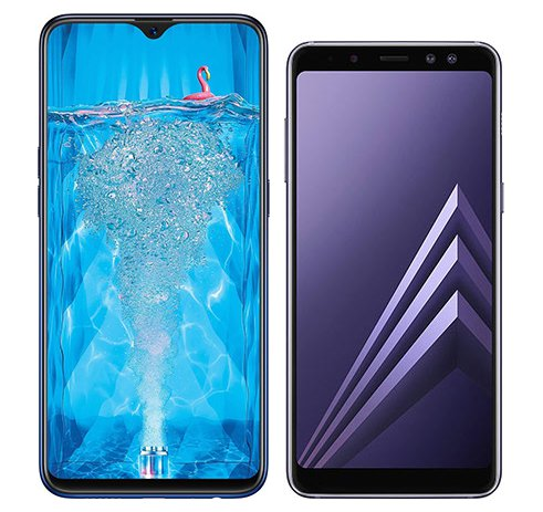 Smartphone Comparison: Oppo f9 pro vs Samsung galaxy a8