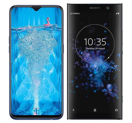 Smartphone Comparison: Oppo f9 pro vs Sony xperia xa2 plus