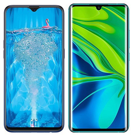 Smartphone Comparison: Oppo f9 pro vs Xiaomi note 10