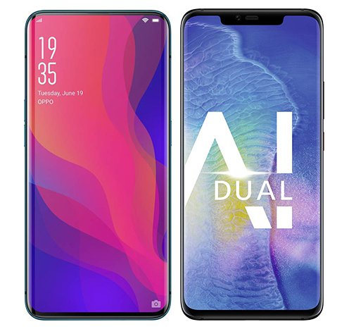 Smartphonevergleich: Oppo find x oder Huawei mate 20 pro