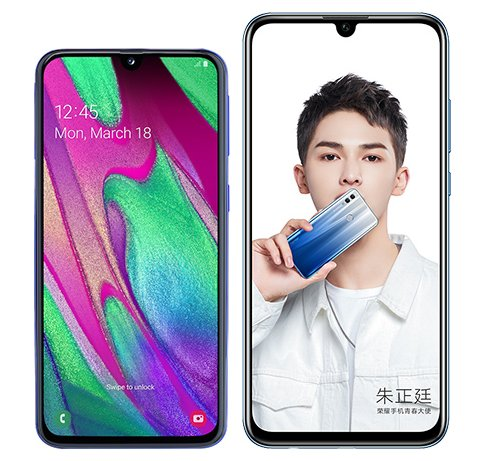 Smartphone Comparison: Samsung galaxy a40 vs Honor 10 lite