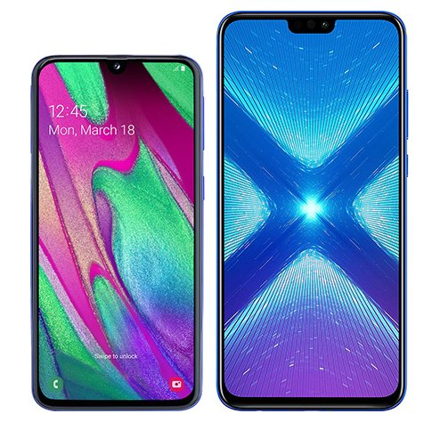 Smartphone Comparison: Samsung galaxy a40 vs Honor 8x