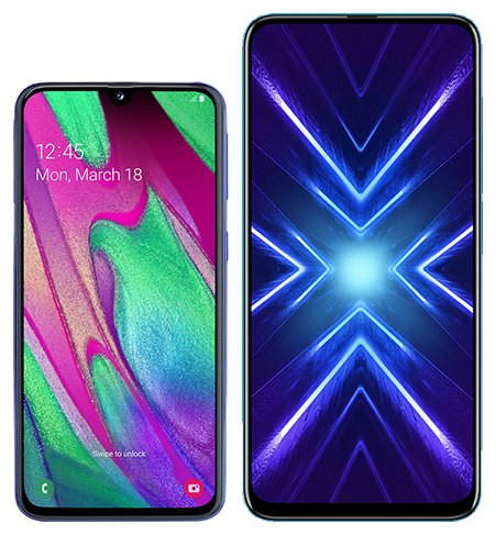 Smartphone Comparison: Samsung galaxy a40 vs Honor 9x