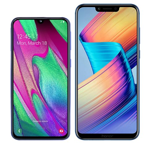 Smartphonevergleich: Samsung galaxy a40 oder Honor play