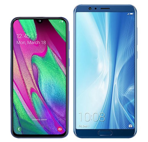 Smartphone Comparison: Samsung galaxy a40 vs Honor view 10