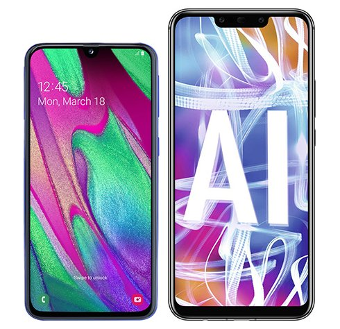 Smartphone Comparison: Samsung galaxy a40 vs Huawei mate 20 lite